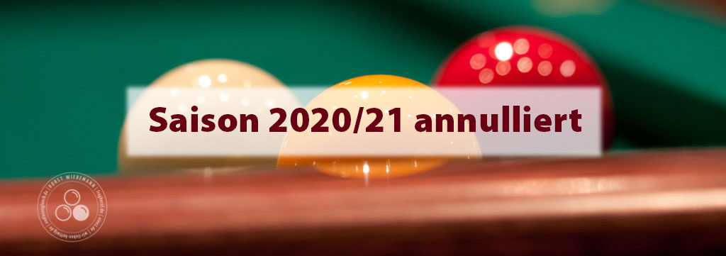 Saison 2020/21 annulliert